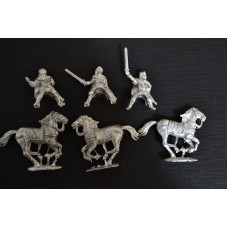Mounted Charlemagne & Standard bearer and bodyguard