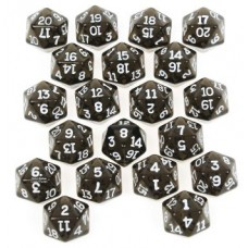 Transparent Dark Blue D20