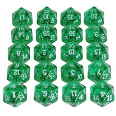 Transparent Green D20