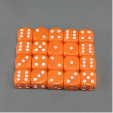 Orange Dice Set