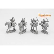 Senior Druzhina Archers (4 mounted resin figures)