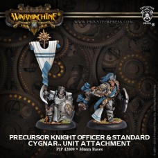 CYGNAR Allies Precursor Knight Officer & Standard