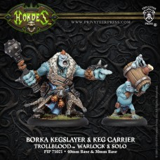 Trollblood Borka Kegslayer & Pyg Keg Carrier (2)