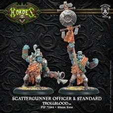 Trollblood Scattergunner Officer & Standard