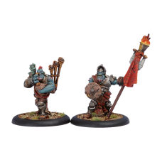 Trollblood Kriel Warrior Standard & Piper