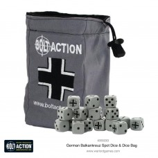 Bolt Action German Army Dice Bag & Order Dice (Grey)