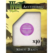 Purple 30mm Translucent Bases (10 pack)