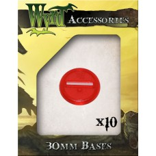 Red 30mm Translucent Bases (10 pack)