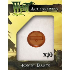 Rootbeer 30mm Translucent Bases (10 pack)