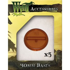 Rootbeer 40mm Translucent Bases (5 pack)