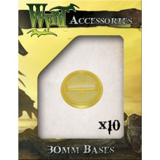 Gold 30mm Translucent Bases (10 pack)