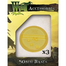 Gold 50mm Translucent Bases (3 pack)