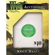 Green 30mm Translucent Bases (10 pack)