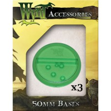 Green 50mm Translucent Bases (3 pack)